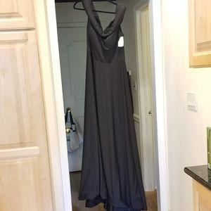 La Femme Curve Off The Shoulder Gown Formal 16 NWT
